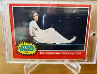 1977 Topps Original Red Star Wars Rookie Card #89 Princess Leia Imprisoned NM