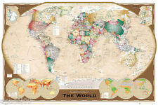 MAXI SIZE MAP OF THE WORLD 91.5 x 61cm POSTER WITH COUNTRY NAME WALL PRESENT