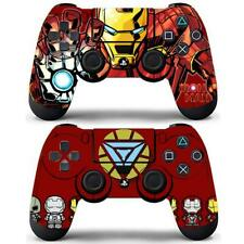 2 Packs PS4 Controllers Dualshock Skin Iron Man Avengers Marvel Vinyl Decal Wrap