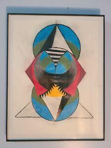 New Emerging Artist Original Drawing Color Framed Signed Original Artwork