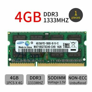 Samsung 4GB DDR3 1333MHz PC3-10600S 2Rx8 204Pin SODIMM Laptop Memory SDRAM BT