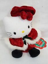 "Vtg 1999 Sanrio HELLO KITTY Mini Bean Bag Plush 6"" CHRISTMAS Doll RARE / NEW"