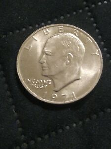 "1971-D Doubled Die""Error""Eisenhour Dallar Coin"