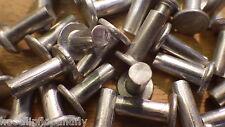 """25 X 1/8 """"x 3/8"""" de cabeza plana Aluminio Sólido Remaches restauración Steam Punk Modelo"""