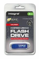 8GB Integral Courier FIPS 197 Encrypted USB2.0 Flash Drive 256-bit Encryption