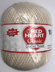 Red Heart Classic Crochet Thread Size 10 Natural 1000yds 0026