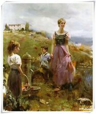 """Pino Daeni,Hand-painted Portrait oil Painting On Canvas 24x32""""#162/Unframed"""