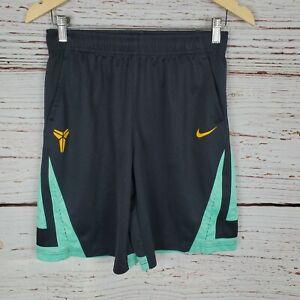 Nike Mens Medium Basketball Shorts Black Green Orange Athletic