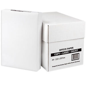 EVERYDAY A4 WHITE PAPER 80GSM PRINTER COPIER   1 2 3 4 5 REAMS OF 500 SHEETS