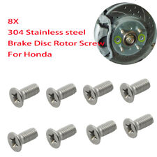 8X Brake Disc Rotor Screw Screws for Honda Accord Civic Odyssey 93600-06014-0H
