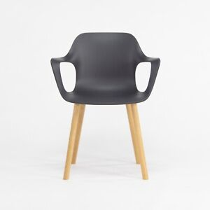 2018Jasper Morrison for Vitra HAL Armchair with Black Seat and Oak Wood Legs