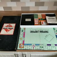 "Rare Vintage Monopoly Set 1930's ""Patent Applied For"" In Rare Large Black Box"