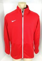 NEW Nike Rivalry Dri Fit Warm Up Jacket Size Large Zip Up Red Athletic Wear