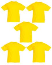 5 PACK FOTL ORIGINAL KIDS T SHIRT BOYS GIRLS BACK TO SCHOOL PE KIT SUMMER SALE