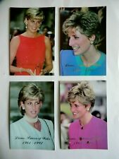SET OF FOUR PRINCESS DIANA LIMITED EDITION ORIGINAL POSTCARDS