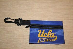 UCLA Bruins University Clip Coin Purse Small Blue Yellow Los Angeles California