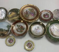 More details for job lot of small decorative plates x11 limoges miniature vintage collectors
