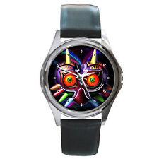 Zelda majoras mask Leather wrist watch
