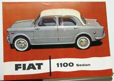 1960s Fiat 1100 Dealer Sales Brochure US Market English Text #1523
