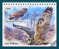 Niger - 2018 Owls on Stamps - Stamp Souvenir Sheet - NIG18323b