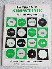 Chappell's Showtime 15 Songs Broadway Arr All Organ Unmarked
