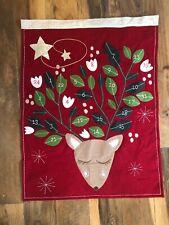 New Pottery Barn Kids Christmas Nordic RED Wool REINDEER Deer Advent Calendar