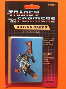 1985 Hasbro TRANSFORMERS Action Cards Sealed Pack, BUZZSAW # 105 Showing MOSC!