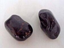 2 MEDIUM/LARGE Black Onyx Tumbled Stone Crystal Healing Tumble Gemstone Reiki