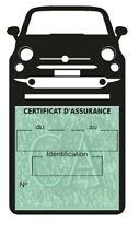 Etui vignette assurance FIAT New 500 pochette voiture Stickers auto rétro