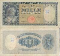 "1.000 LIRE BUSTO D'ITALIA ""TESTINA""  DEC.20/03/1947"