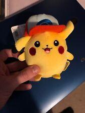 New TAKARA TOMY A.R.T.S Pokemon Mocchi-Mocchi mini Pikachu Unova Cap Plush
