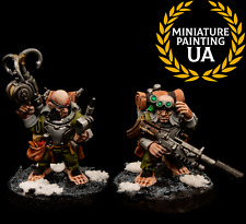 ⭐️WH40K Warhammer Quest Blackstone Fortress Ratling Twins Rein and Raus Painted