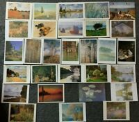 LOT OF 29 POSTCARDS OF PAINTINGS BY MONET