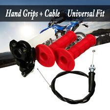 Red Pit Dirt Bike Quick Action Throttle Grip Twist & Cable 125cc 140cc PITBIKE
