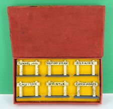 HORNBY SERIES O GAUGE NOTICE BOARDS RAILWAY ACCESSORIES SET No 8 ( BOXED