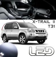 Nissan X TRAIL II T31 4 Ampoules LED Blanc intérieur Habitacle plafonnier lampe