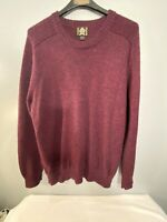 Royal Alpaca Red Knit Mens Size Large Sweater. 100% Alpaca