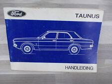 Handleiding Ford Taunus van 1971 - nederlandstalig