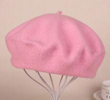 Women Sweet Solid Warm Wool Winter Beret French Artist Beanie Hats Ski Cap New