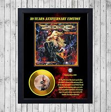 DORO RAISE YOUR FIST CUADRO CON GOLD O PLATINUM CD EDICION LIMITADA. FRAMED