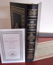 One Soldier's Story by Bob Dole - Signed 1st Limited Edition COA - Easton Press