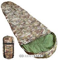 BTP MTP Camo 3 Season Nylon Shell Military Sleeping Bag with Compression Sack
