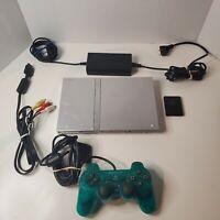Sony SCPH-77001 PlayStation 2 Slim Bundle W/ Green Controller & Mem. Card - Read