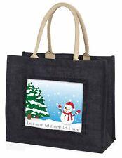 Snow Man Large Black Shopping Bag Christmas Present Idea      , Snow-1BLB