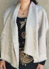 NEW LV GREIGE Monogram Silk/Wool Scarf/Shawl 100% Authentic M71336 Louis Vuitton