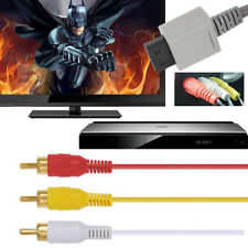 6ft 1.8m Audio Video AV Composite 3 RCA Cable TV Cord Connector for Nintendo Wii