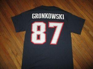 ROB GRONKOWSKI NEW ENGLAND PATRIOTS JERSEY T SHIRT Super Bowl LIII 87 Medium