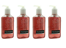 4 x NEUTROGENA OIL-FREE ACNE PUMP WASH PINK GRAPEFRUIT FACIAL CLEANSER 177ml
