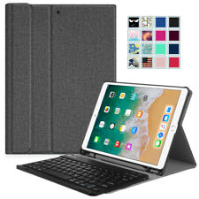For iPad Air 10.5'' 3rd Gen 2019 Folio Case Cover Stand with Bluetooth Keyboard