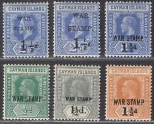 Cayman Islands 1917-20 KGV War Stamp Surcharge Selection Mint